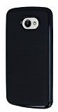 Motomo LG K5 Siyah Kenarlı Siyah Silikon Kılıf