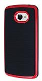 Motomo LG K5 Kırmızı Kenarlı Siyah Silikon Kılıf