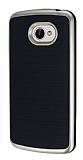 Motomo LG K5 Gold Kenarl� Siyah Silikon K�l�f