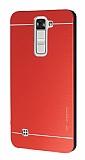 Motomo LG K7 Metal Kırmızı Rubber Kılıf