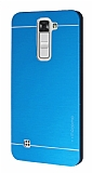Motomo LG K7 Metal Mavi Rubber Kılıf