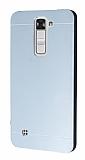 Motomo LG K7 Metal Silver Rubber Kılıf