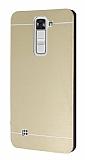 Motomo LG K7 Metal Gold Rubber Kılıf