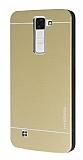 Motomo LG K8 Metal Gold Rubber Kılıf