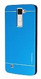 Motomo LG K8 Metal Mavi Rubber Kılıf