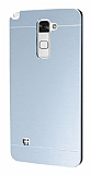 Motomo LG Stylus 2 Metal Silver Rubber Kılıf