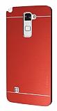 Motomo LG Stylus 2 / Stylus 2 Plus Metal Kırmızı Rubber Kılıf