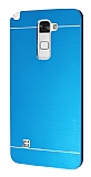 Motomo LG Stylus 2 / Stylus 2 Plus Metal Mavi Rubber Kılıf