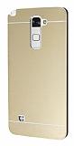 Motomo LG Stylus 2 / Stylus 2 Plus Metal Gold Rubber Kılıf