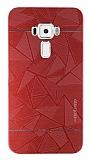 Motomo Prizma Asus ZenFone 3 ZE552KL Metal Kırmızı Rubber Kılıf