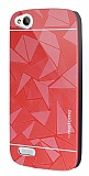 Motomo Prizma General Mobile Discovery Metal Kırmızı Rubber Kılıf