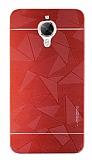 Motomo Prizma General Mobile GM 5 Plus Metal Kırmızı Rubber Kılıf