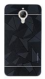 Motomo Prizma General Mobile GM 5 Plus Metal Siyah Rubber Kılıf