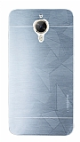 Motomo Prizma General Mobile GM 5 Plus Metal Silver Rubber Kılıf