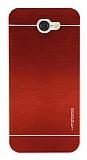 Motomo General Mobile GM6 Metal Kırmızı Rubber Kılıf