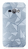 Motomo Prizma Samsung Galaxy J1 Ace Metal Silver Rubber Kılıf