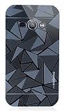 Motomo Prizma Samsung Galaxy J1 Ace Metal Siyah Rubber Kılıf