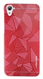 Motomo Prizma HTC Desire 826 Metal Kırmızı Rubber Kılıf