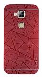 Motomo Prizma Huawei G8 Metal Kırmızı Rubber Kılıf