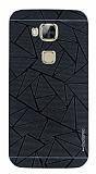 Motomo Prizma Huawei G8 Metal Siyah Rubber Kılıf