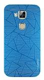 Motomo Prizma Huawei G8 Metal Mavi Rubber Kılıf