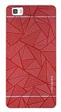Motomo Prizma Huawei P8 Lite Metal Kırmızı Rubber Kılıf