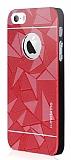 Motomo Prizma iPhone SE / 5 / 5S Metal Kırmızı Rubber Kılıf