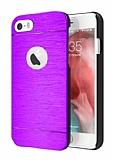 Motomo iPhone 6 Plus / 6S Plus Metal Mor Rubber Kılıf
