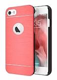Motomo iPhone 6 Plus / 6S Plus Metal Kırmızı Rubber Kılıf