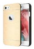 Motomo iPhone 6 Plus / 6S Plus Metal Gold Rubber Kılıf