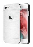 Motomo iPhone 6 Plus / 6S Plus Metal Silver Rubber Kılıf