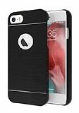 Motomo iPhone 6 Plus / 6S Plus Metal Siyah Rubber Kılıf