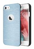Motomo iPhone 6 Plus / 6S Plus Metal Lacivert Rubber Kılıf
