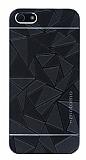 Motomo Prizma iPhone SE / 5 / 5S Metal Siyah Rubber Kılıf