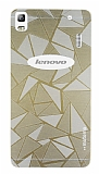 Motomo Prizma Lenovo A7000 Metal Gold Rubber Kılıf