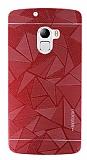 Motomo Prizma Lenovo A7010 Metal Kırmızı Rubber Kılıf
