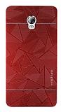 Motomo Prizma Lenovo Vibe P1 Metal Kırmızı Rubber Kılıf