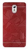 Motomo Prizma Lenovo Vibe P1m Metal Kırmızı Rubber Kılıf