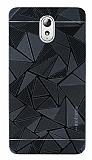 Motomo Prizma Lenovo Vibe P1m Metal Siyah Rubber Kılıf