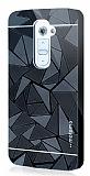 Motomo Prizma LG G2 Metal Rubber Siyah Kılıf