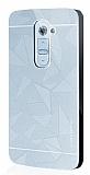 Motomo Prizma LG G2 Metal Rubber Silver Kılıf