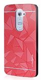 Motomo Prizma LG G2 Metal Rubber Kırmızı Kılıf