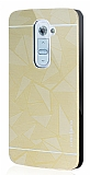 Motomo Prizma LG G2 Metal Rubber Gold Kılıf
