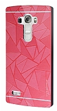 Motomo Prizma LG G4 Beat Metal Kırmızı Rubber Kılıf