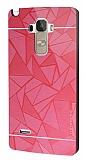 Motomo Prizma LG G4 Stylus Metal Kırmızı Rubber Kılıf