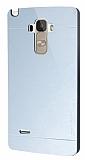 Motomo Prizma LG G4 Stylus Metal Silver Rubber Kılıf