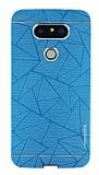 Motomo Prizma LG G5 Metal Mavi Rubber Kılıf