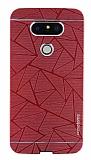 Motomo Prizma LG G5 Metal Kırmızı Rubber Kılıf