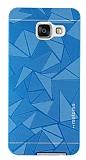 Motomo Prizma Samsung Galaxy A3 2016 Metal Mavi Rubber Kılıf