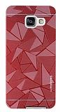 Motomo Prizma Samsung Galaxy A3 2016 Metal Kırmızı Rubber Kılıf